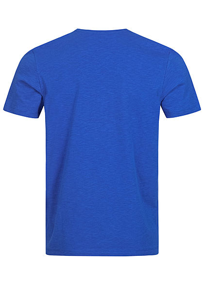 Tom Tailor Herren T-Shirt Logo Print Schriftzug victory blau