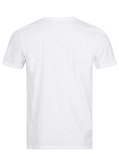 Tom Tailor Herren T-Shirt Logo Print Schriftzug weiss blau