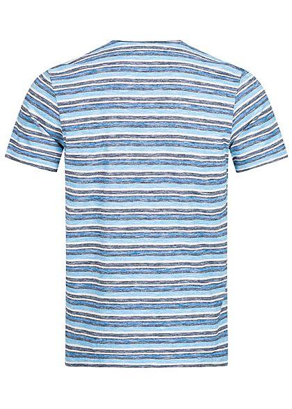 Tom Tailor Herren Multicolor T-Shirt mit Brusttasche & Streifen blau