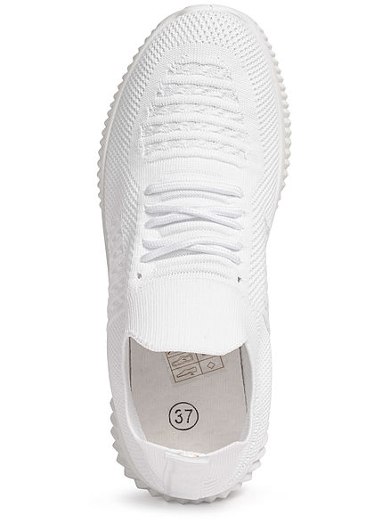 Seventyseven Lifestyle Damen Schuh Running Sneaker zum Schnüren weiss