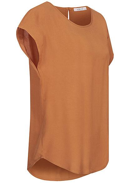 Hailys Damen Blusen Shirt Vokuhila hazel braun