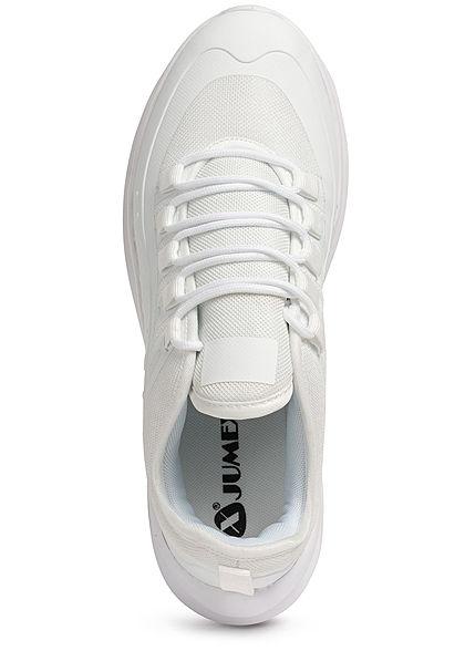 Seventyseven Lifestyle Herren Schuh Kunstleder Sneaker Materialmix weiss