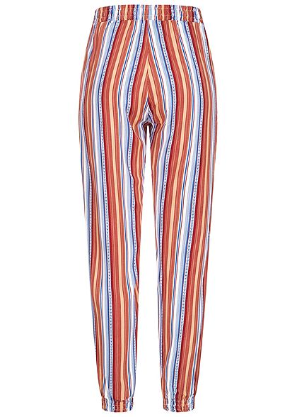 Hailys Damen Sommer Hose 2-Pockets Deko Tunnelzug Multicolor Streifen hazel mc