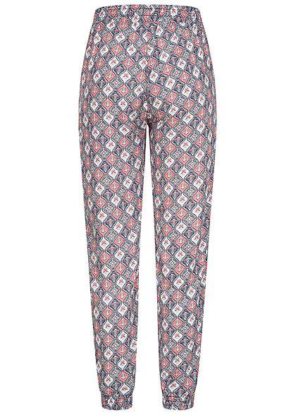 Hailys Damen Sommer Hose 2-Pockets Deko Tunnelzug Allover Print multicolor