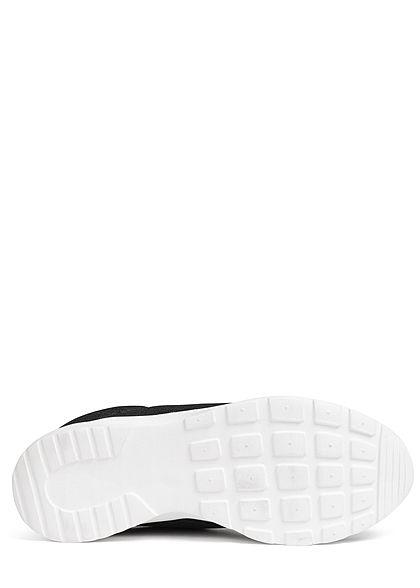 Seventyseven Lifestyle Damen Schuh Running Sneaker Mesh Optik schwarz weiss
