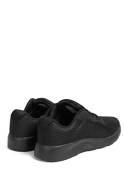 Seventyseven Lifestyle Damen Schuh Running Sneaker Mesh Optik schwarz
