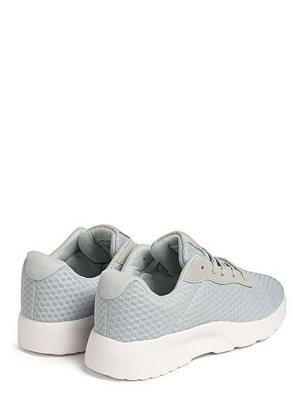 Seventyseven Lifestyle Damen Schuh Running Sneaker Mesh Optik hell grau blau