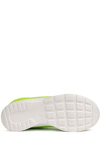 Seventyseven Lifestyle Damen Schuh Running Sneaker Mesh Optik neon grün