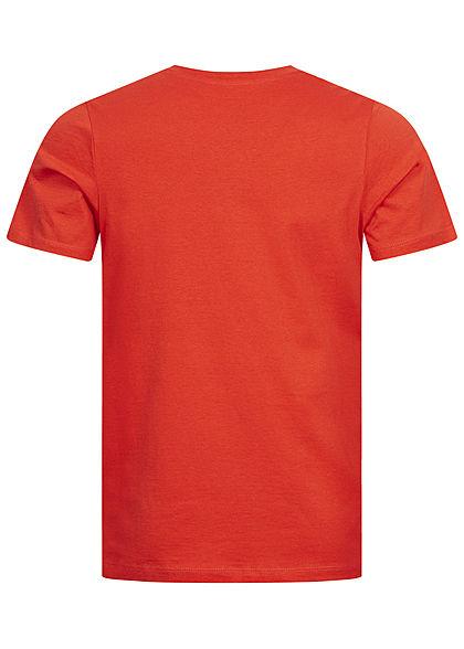 Jack and Jones Herren T-Shirt Tropical Hawai Print Regular Fit chili rot
