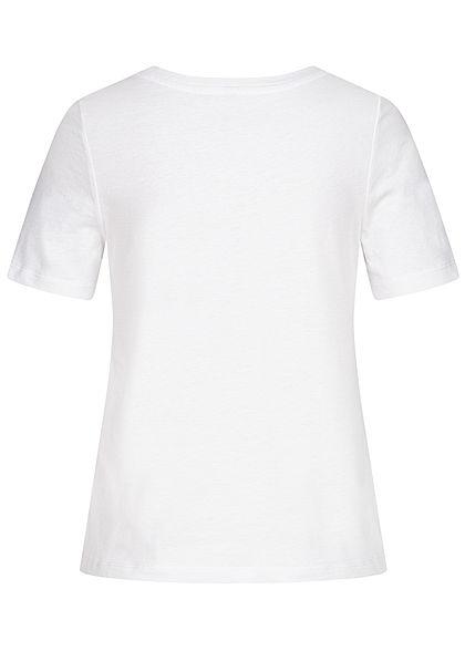 ONLY Damen T-Shirt Cut Out mit Stickerei bright weiss