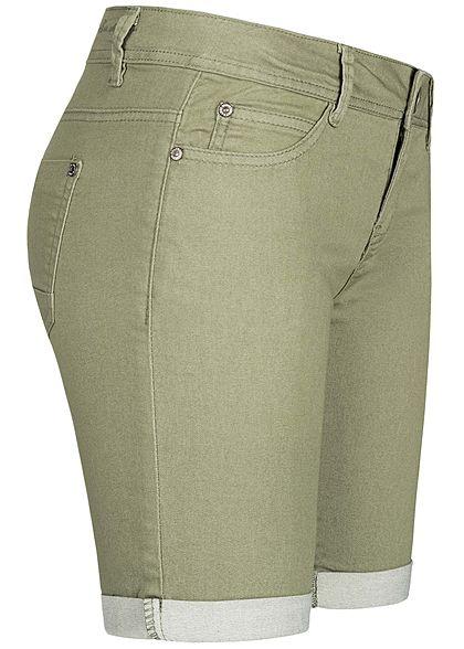 Hailys Damen Bermuda Shorts 5-Pockets khaki grün