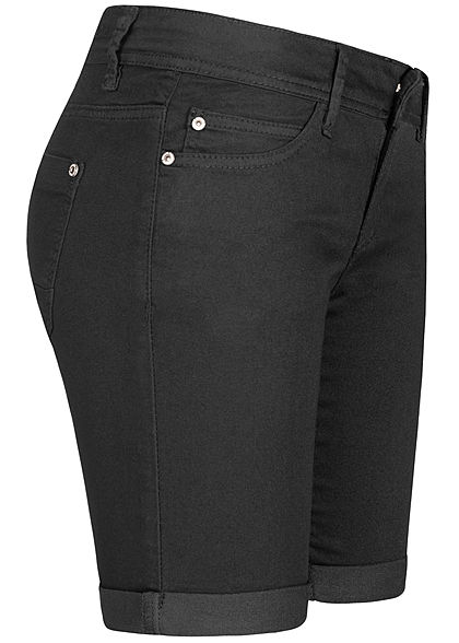 Hailys Damen Bermuda Shorts 5-Pockets schwarz