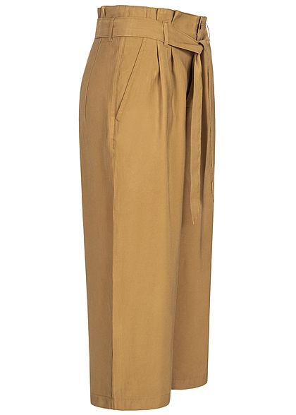ONLY Damen Paperbag 7/8 Culotte Stoffhose 2-Pockets dijon braun