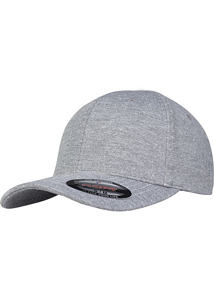 Flexfit TB Piqué Dots Cap Punkte Muster heather hell grau weiss