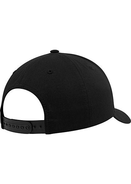 Flexfit Curved Classic Snapback Cap schwarz