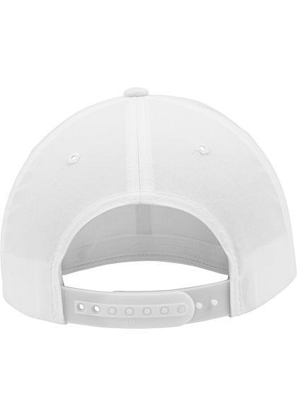 Flexfit Curved Classic Snapback Cap weiss