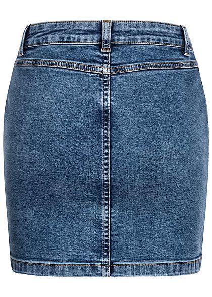 JDY by ONLY Damen Jeans Rock Zipper vorne 2-Pockets hell blau denim