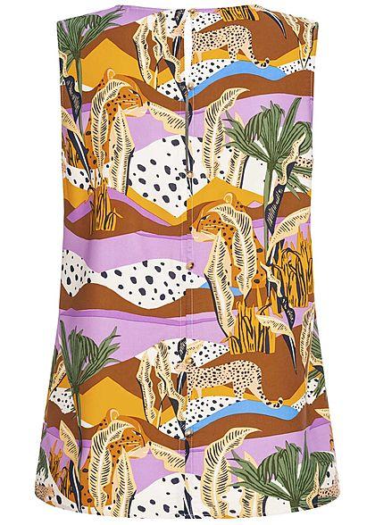 Tom Tailor Damen Blusen Top Tropical Safari Animal Print multicolor