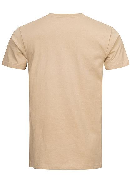 Mister Tee Herren T-Shirt fxxking life Kaktus Print sand beige mc