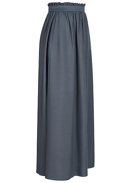 Vero Moda Damen NOOS Paperbag Ankle Longform Rock Gummibund ombre blau