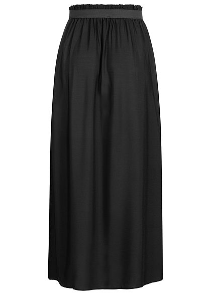 Vero Moda Damen NOOS Paperbag Ankle Longform Rock Gummibund schwarz