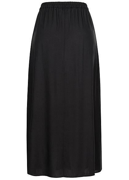 Vero Moda Damen Longform Rock Schlitze seitlich schwarz unicolor