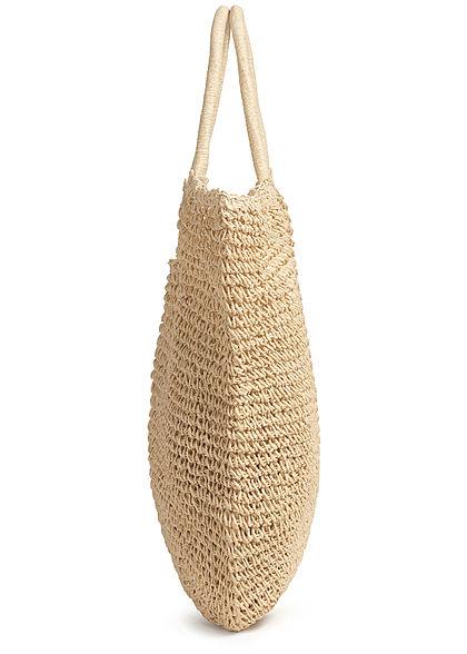 Hailys Damen Shopper Handtasche H38xB55cm mit Druckknopf beige