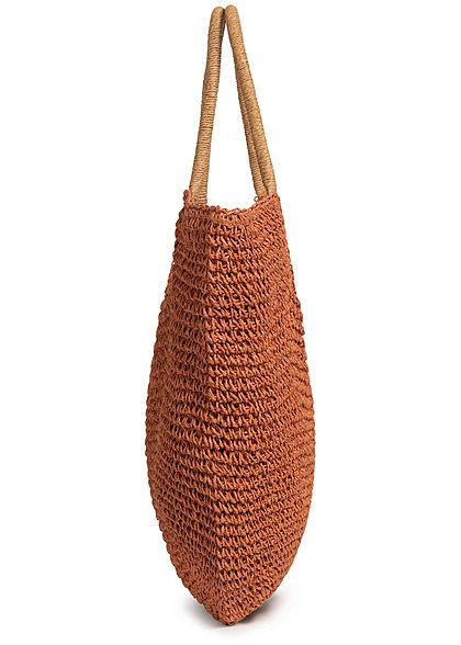 Hailys Damen Shopper Handtasche H38xB55cm mit Druckknopf hazel braun