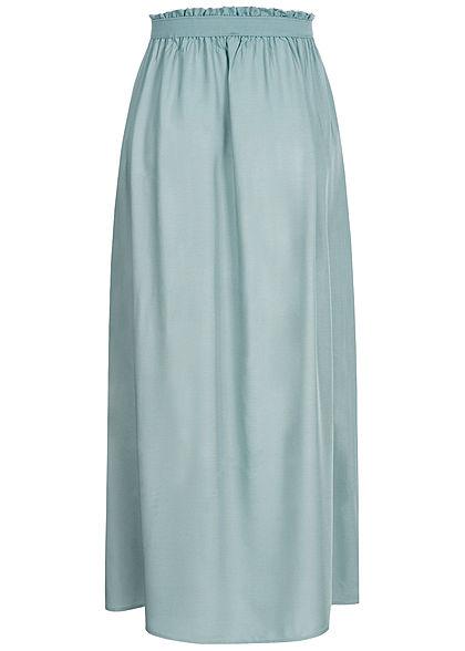 Vero Moda Damen Paperbag Ankle Longform Rock Gummibund slate blau