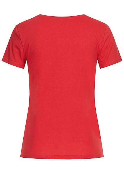 ONLY Damen T-Shirt Minnie Mouse Print high risk rot