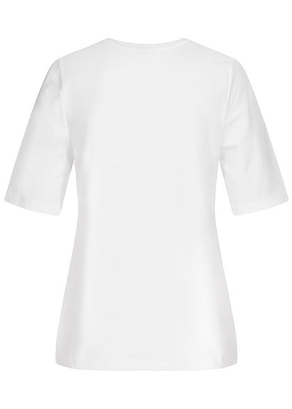 ONLY Damen T-Shirt Coca Cola Coke Print bright weiss rot