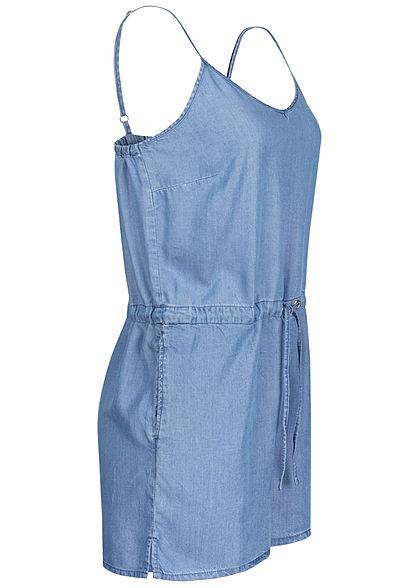 ONLY Damen Denim V-Neck Playsuit 2-Pockets Tunnelzug medium blau denim