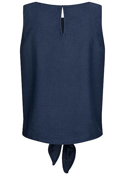 Tom Tailor Damen Blusen Top Bindedetail vorne real navy