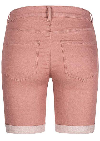 ONLY Damen Bermuda Shorts 3-Pockets Regular Waist burlwood rosa melange