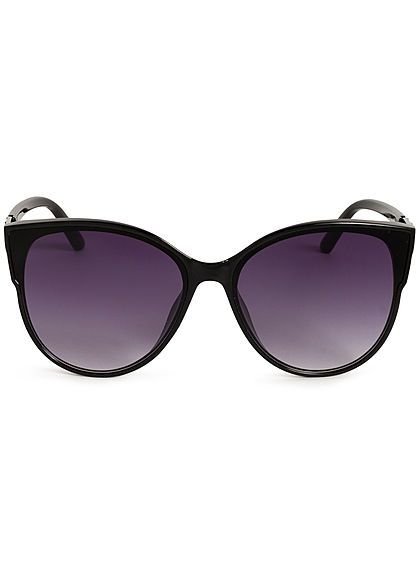 Hailys Damen Cat Eye Sonnenbrille Detail am Bügel UV-400 Cat.3 schwarz