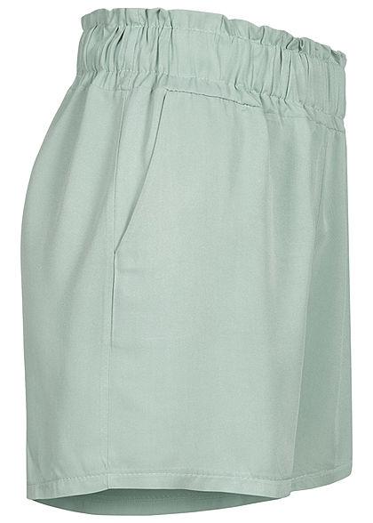 Fresh Lemons Damen Viskose Paperbag Shorts 2-Pockets balsam grün