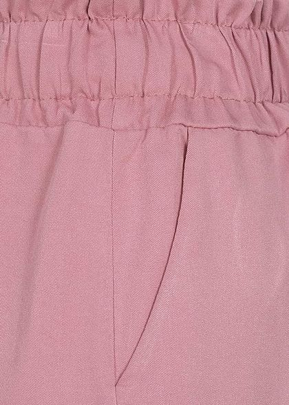 Fresh Lemons Damen Viskose Paperbag Shorts 2-Pockets old rosa