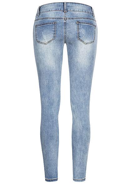 Seventyseven Lifestyle Damen Skinny Jeans Hose 5-Pockets hell blau denim