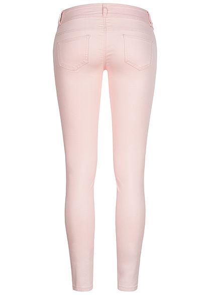 Seventyseven Lifestyle Damen Skinny Jeans Hose 5-Pockets Low Waist rosa