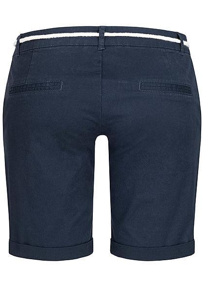 Seventyseven Lifestyle Damen Chino Shorts 2-Pockets inkl. Kordelzug navy blau