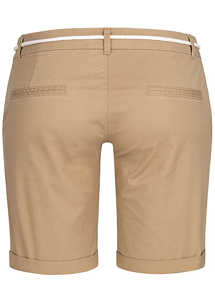 Seventyseven Lifestyle Damen Chino Shorts 2-Pockets inkl. Kordelzug concrete beige