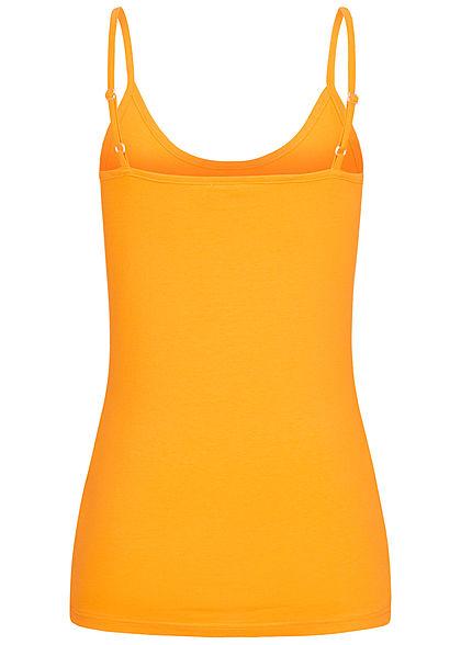 Seventyseven Lifestyle Damen Basic Spaghetti Top mango gelb