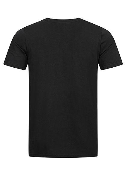 Seventyseven Lifestyle Herren T-Shirt Logo Print schwarz rot