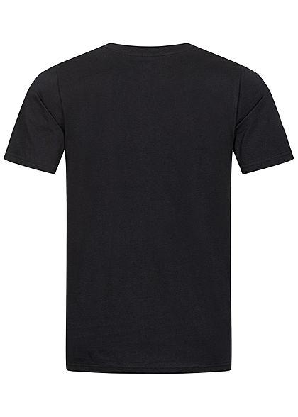 Seventyseven Lifestyle Herren T-Shirt Colorblock Logo Print schwarz weiss rot