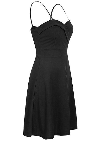 Hailys Damen Mini Träger Kleid inkl. Brustpads Zipper hinten schwarz