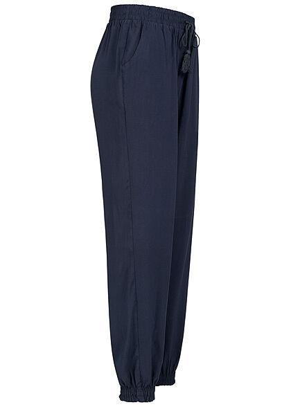 Hailys Damen Sommer Hose 2-Pockets Deko Tunnelzug navy blau