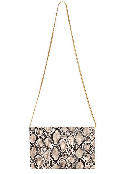 Hailys Damen Mini Kunstleder Handtasche B29xH19cm Snake Print beige