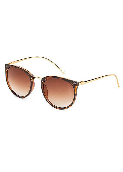 Hailys Damen Sonnenbrille 2-Tone UV-400 Cat.3 Camouflage Design braun gold