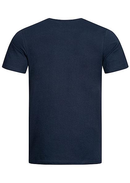 Jack and Jones Herren T-Shirt Frontprint blazer navy blau