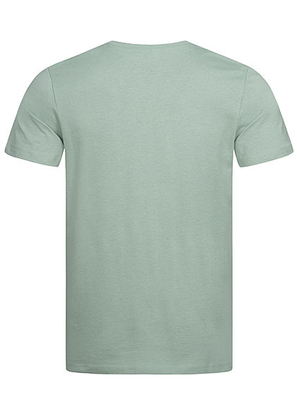 Jack and Jones Herren T-Shirt Sommer Frontprint milieu grün